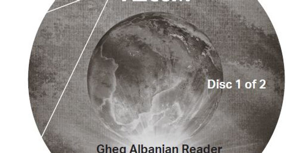 Gheg Albanian Reader - Audio CD