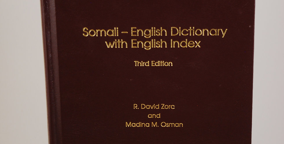 Somali-English Dictionary with English Index