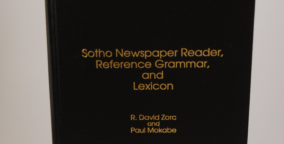 Sotho Newspaper Reader, Reference, Grammar, and Lexicon