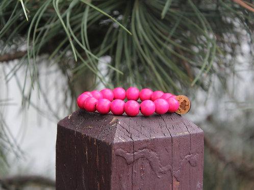 """Valentine's Day Bracelet """"Fuscia"""" 12mm"""
