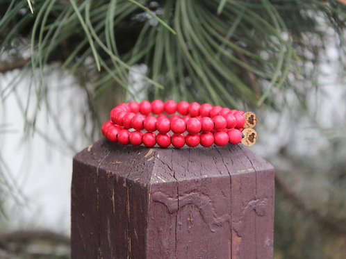 "Valentine's Day Bracelet ""Crimson"" 8mm"