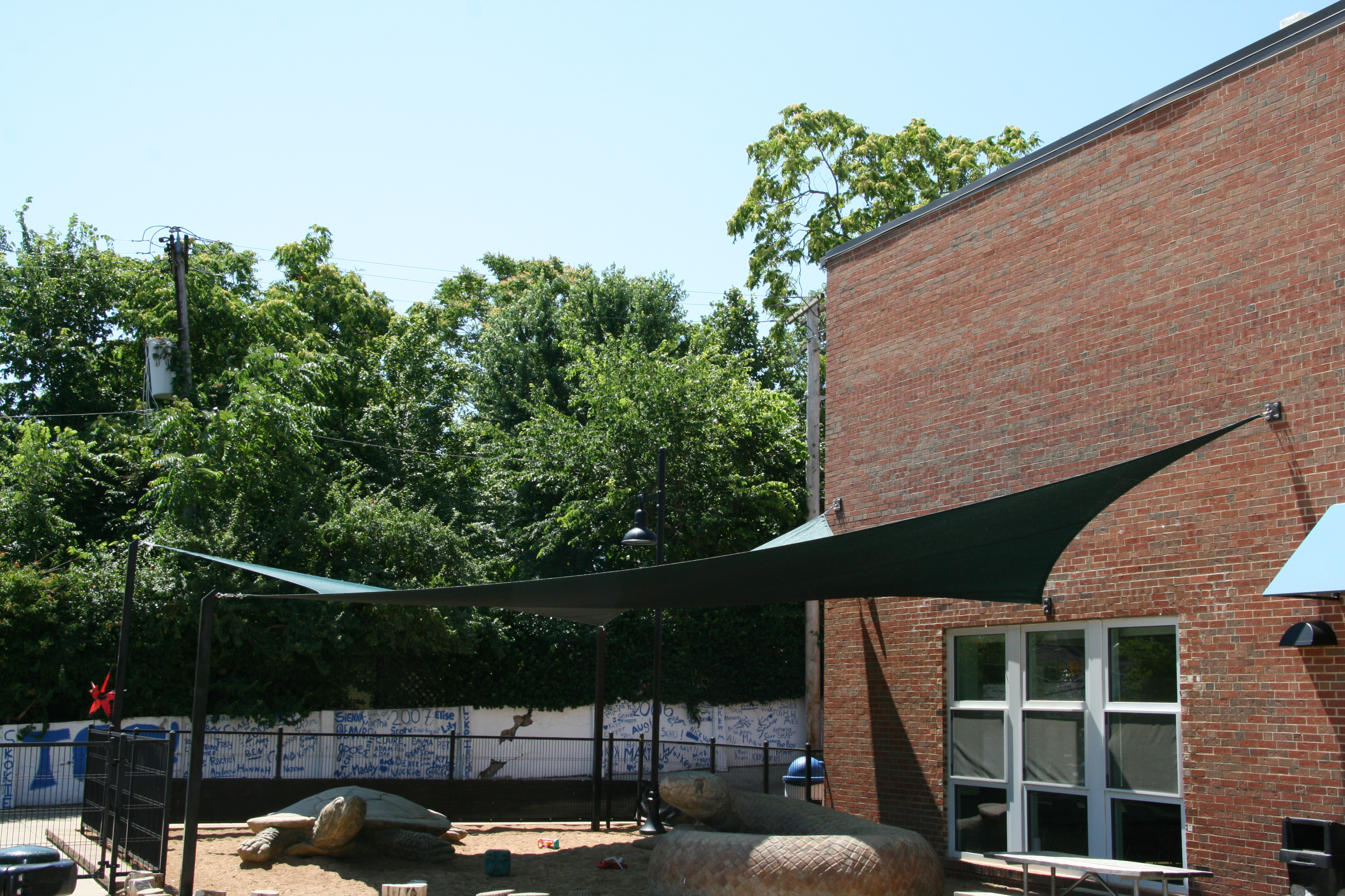 The College School shade sail