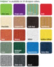 Polyfab shade cloth color chart