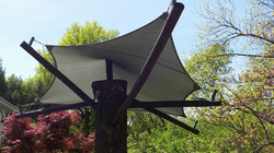 Green design- tree shade structure
