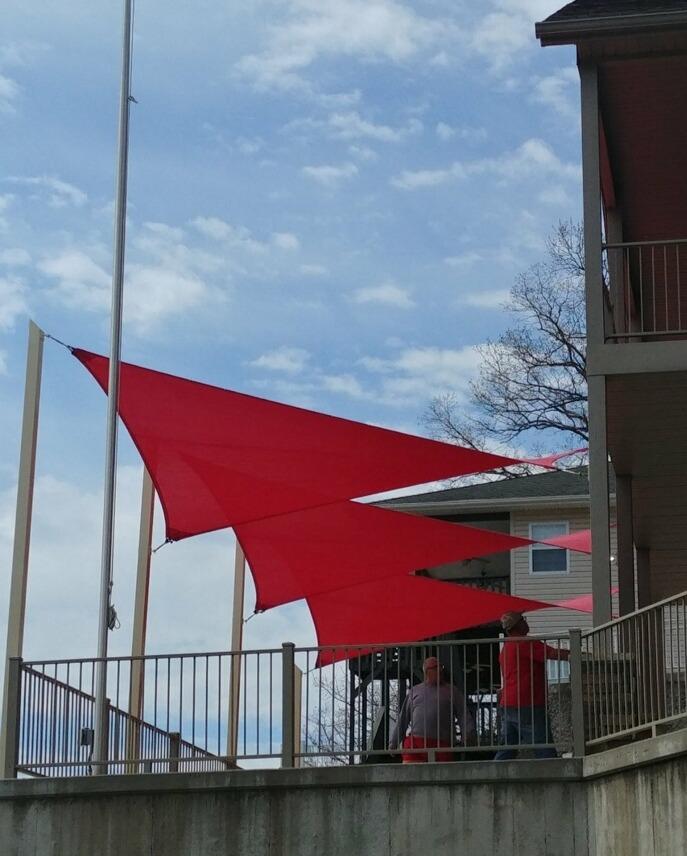 Shade-Guard residential shade sails, Osage Beach