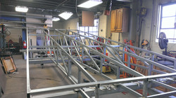 Assembling Trader Joe's awning frame