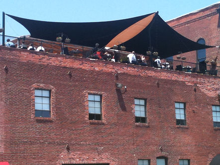 Vin de Set Rooftop Patio Shade Sails