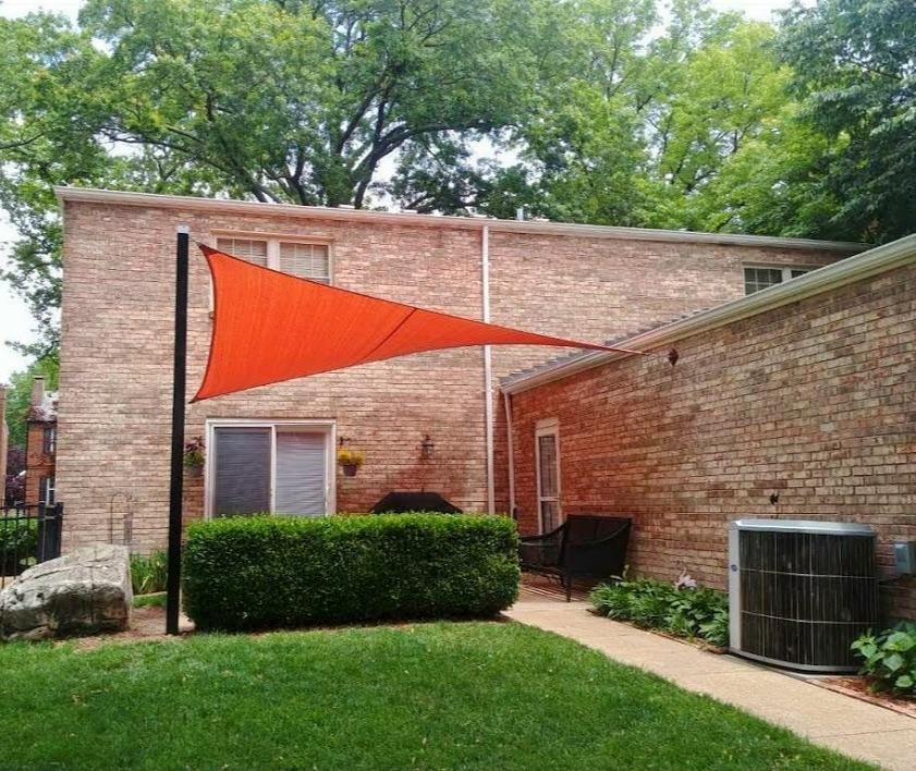 Shade-Guard residential patio shade sail, South City St. Louis