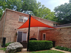 Shade-Guard residential patio shade sail, South City St. Louis