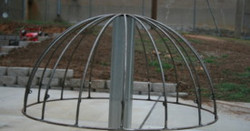 Fabrication of shade flower domes