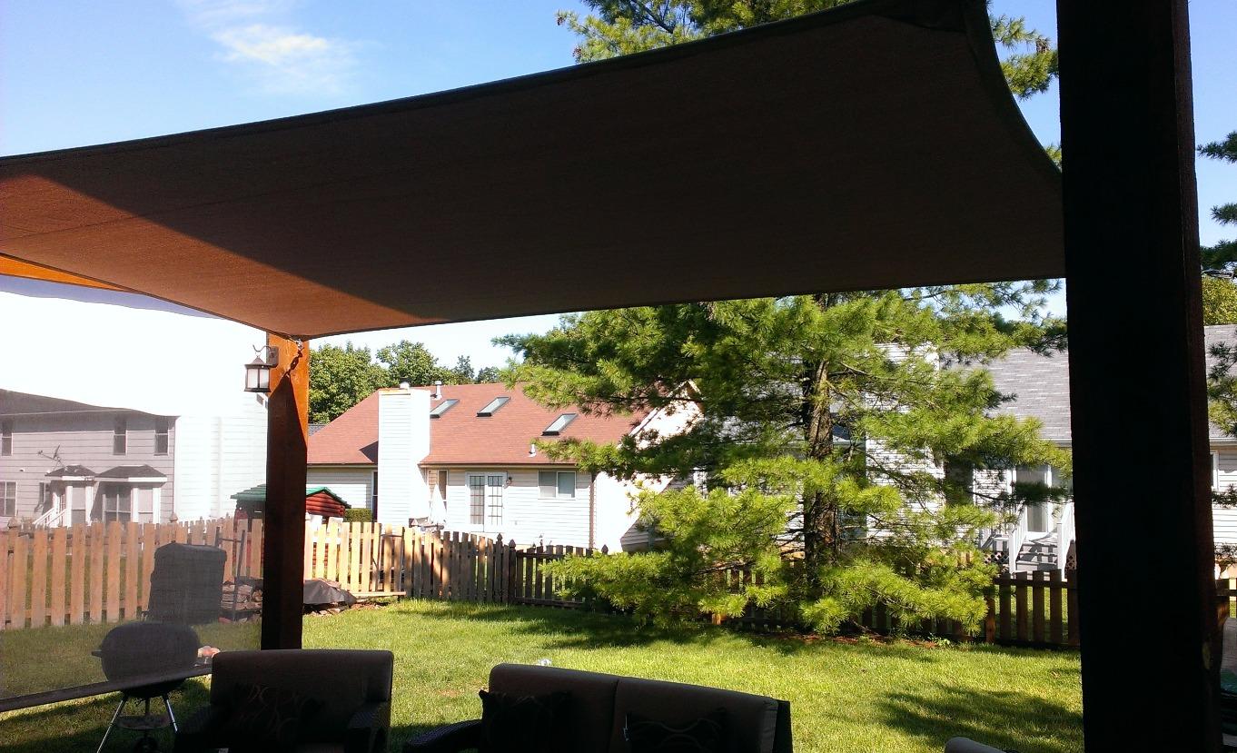 Shade-Guard residential shade canopy, Ballwin