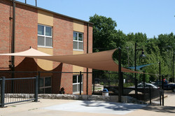 The College School shade sails