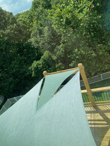 Shade-Guard residential deck shade sails, South County, St. Louis