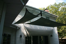 Residential Shade Canopy with rope stringing