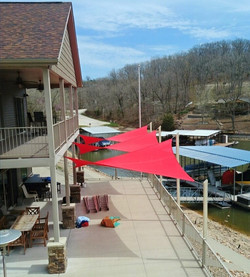 Shade-Guard residential shade sails, Osage Beach