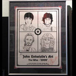 John Entwistle Signed Gallery Poster