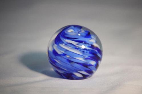 Cobalt Spiral Paper Weight