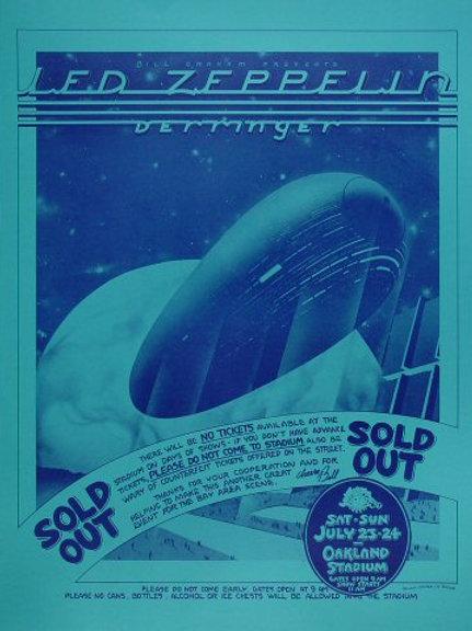 Led Zepplin: Pre-show Sold Out Poster Signed: V2