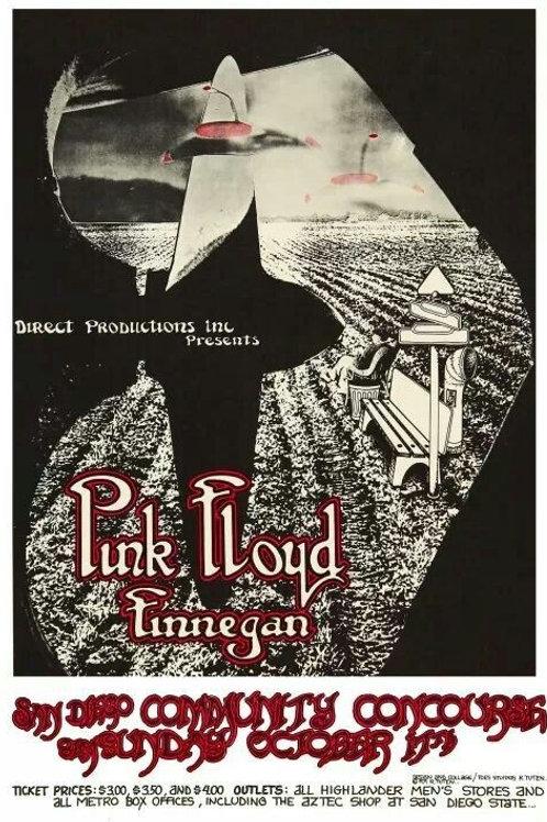 Pink Floyd: San Diego '71 Poster