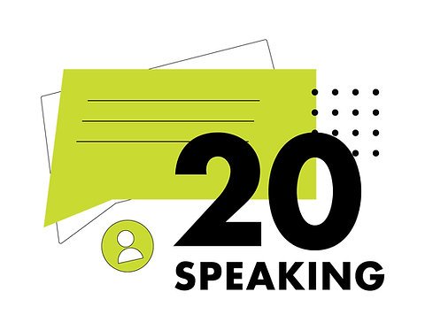 Bono de 20 sesiones de Speaking
