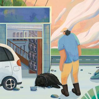 Illustration for A Huntaway From Sahantala Resort