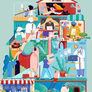 Quarantine Vibe Illustrations