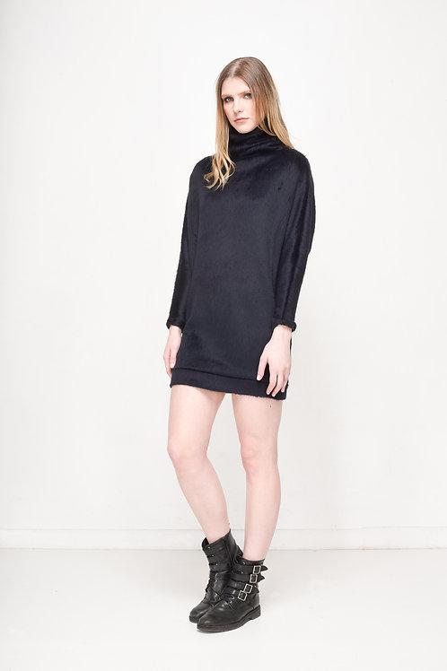 Faux Fur Ribe Dress