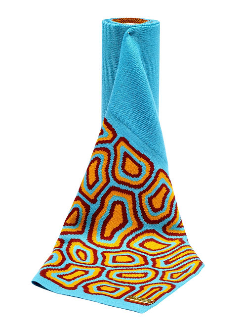 TATI BODUCH Merino Scarf,  AGATE Collection,  Turquoise-Turquoise