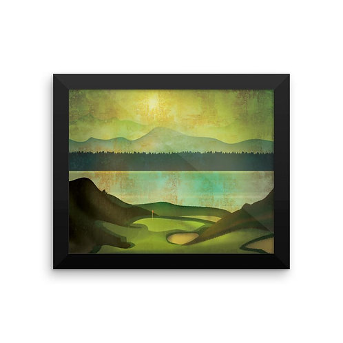 Chambers Bay Golf Course Framed Poster