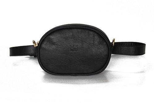 Leather Black  Belt Bag