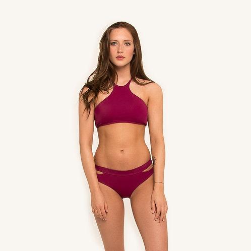 Lani Halter Bikini Top Berry