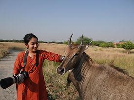 ashu with nilgai.jpg