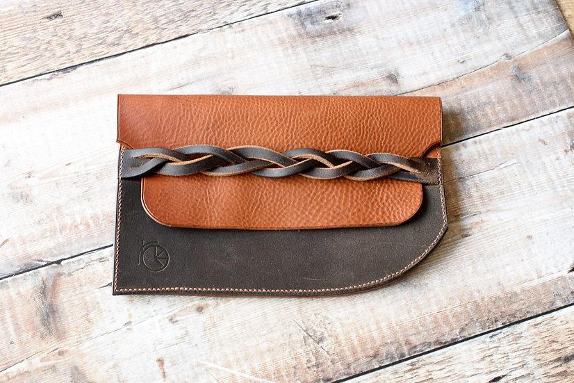 Repurposed Saddle Clutch Bag