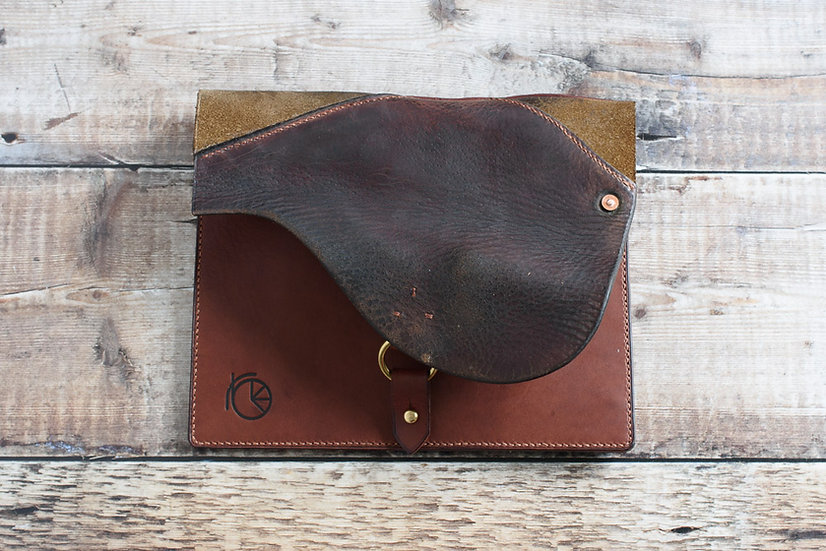 Repurposed Saddle Clutch Bag