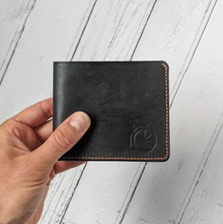 Handstitched leather wallet £100