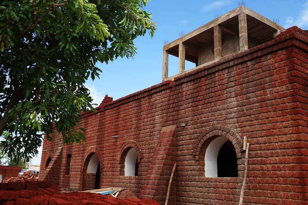 construction en briques de terre cuite