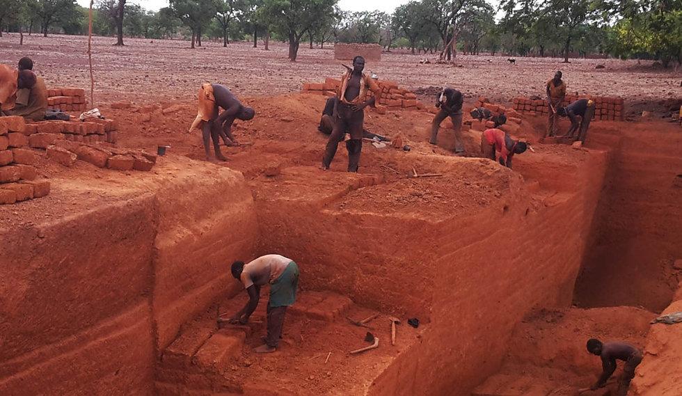 construction en briques de terre compressée