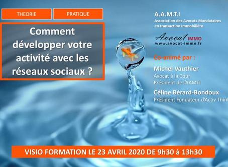 #Formation AAMTI - Comment développer votre activité avec les réseaux sociaux ?