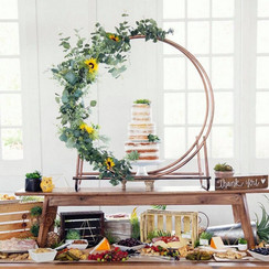 Metal Circle Backdrop for Cakes