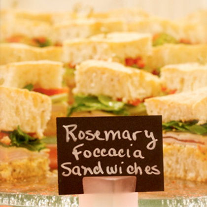Rosemary Foccacia  Sandwich Squares
