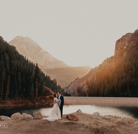 bride and groom mountain wedding utah 2.