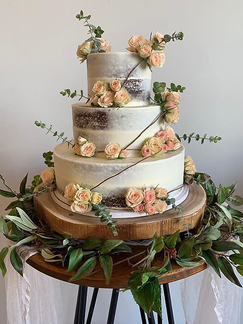 3-Tier Semi Iced Cakes
