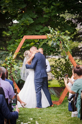 Octagon Shaped Wedding Backdrop