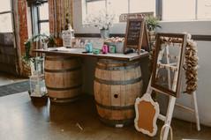 Rustic Wood Barrel Table