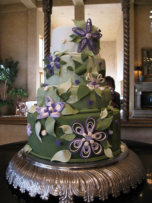4-Tier Fondant Cakes