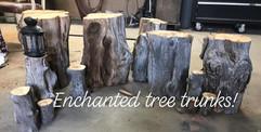 Enchanted Tree Trunks for Wedding Decor.