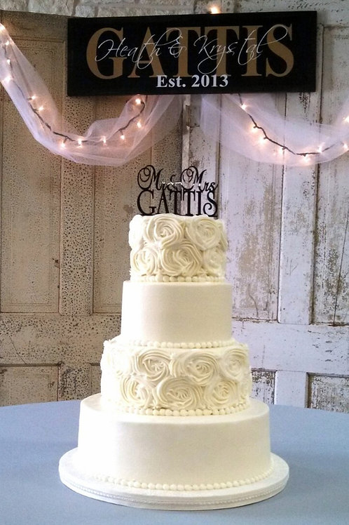 4-Tier Buttercream Cake