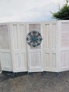 whitewashed vintage door backdrop