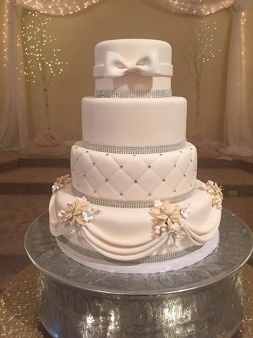 4-Tier Fondant Cake