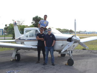 Gienne Passes the CFI Initial on the 1st Attempt in Miami